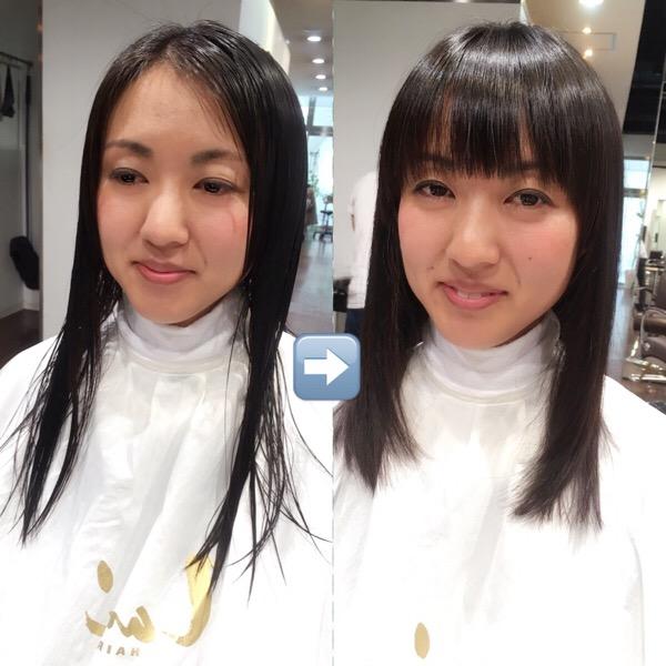 若く見せる髪型