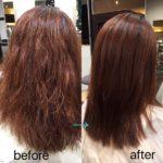 ハイダメージ毛の自然な仕上がりの縮毛矯正