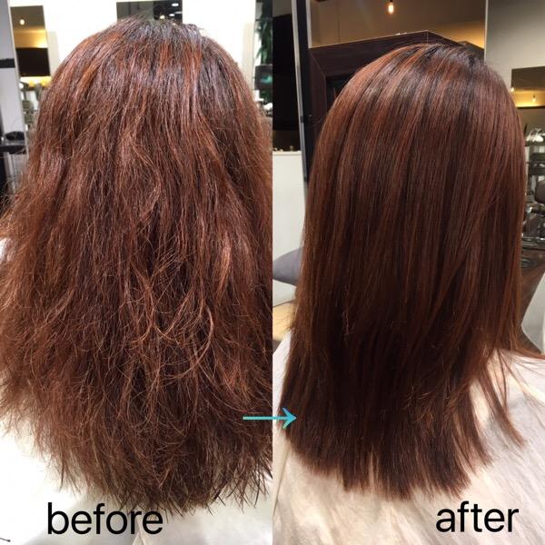 ハイダメージ毛の髪質改善