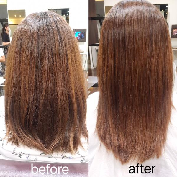 髪の広がりを抑えるトリートメントストレート