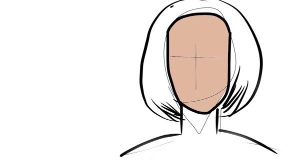 面長に似合う髪型