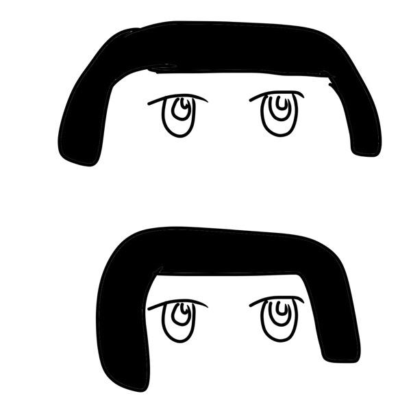 目が離れている人に似合う前髪