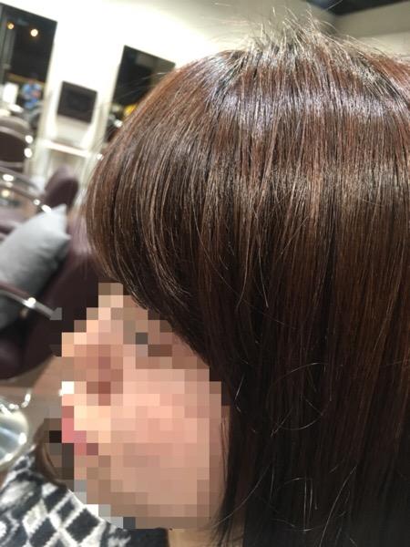 前髪カールの縮毛矯正
