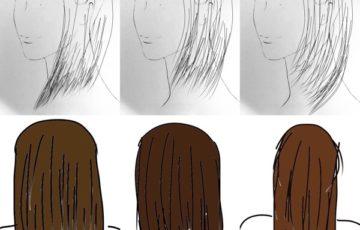 後ろ姿と髪型の関係