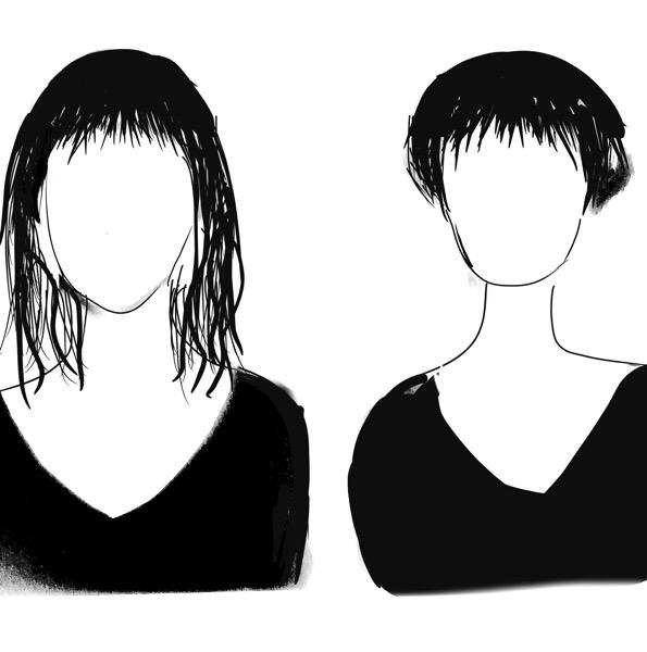 首が細い似合う髪型